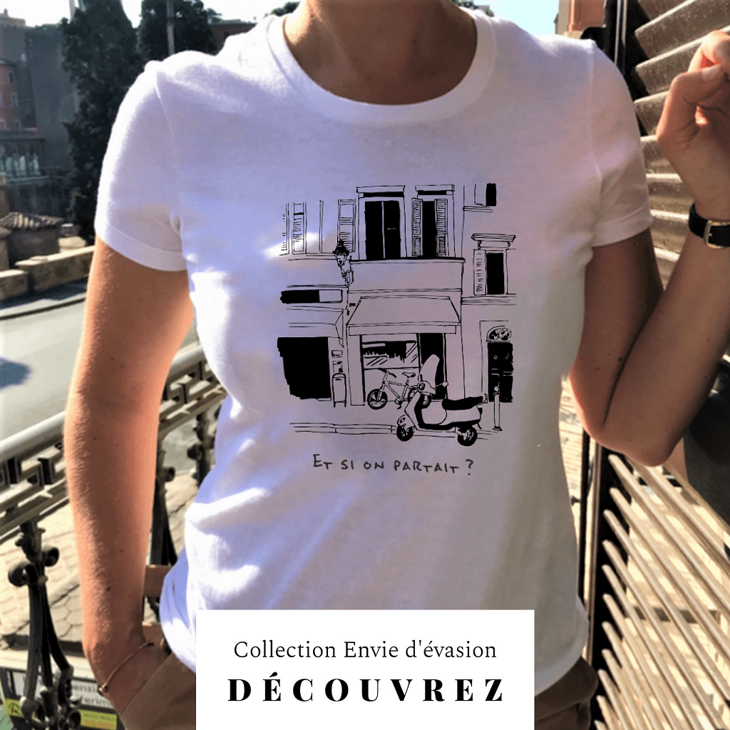 partir voyage t-shirt