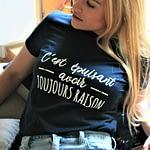 t-shirt Callitee c'est épuisant avoir toujours raison