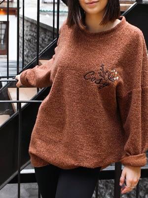 pull cosy brun