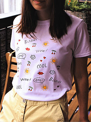bisous t-shirt love