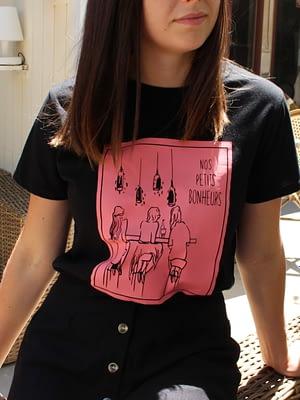 bonheur t-shirt noir