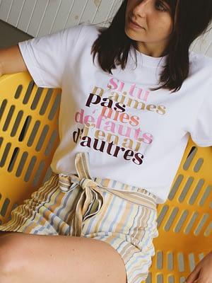 t-shirt blanc humour