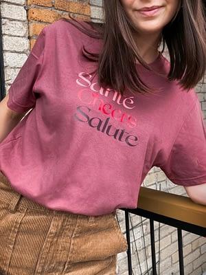 santé cheers salute t-shirt bordeau