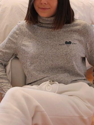 col roulé gris