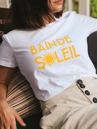 t-shirt blanc soleil